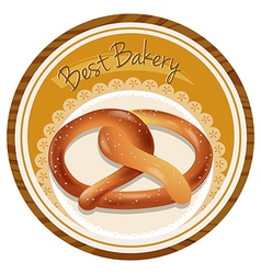 A best bakery label vector image