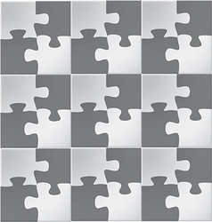 Abstract Jigsaw puzzle vector image vector image