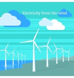 Electricity From Wind Design Flat vector image vector image