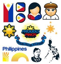 Philippines Symbols vector image