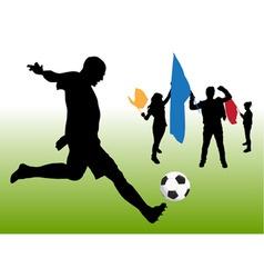 soccer fun vector image vector image