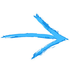 Arrow sign hand drawn brush stroke vector