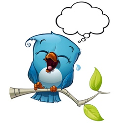Blue Bird LOL vector image