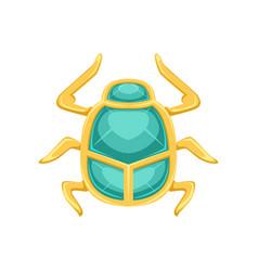 egyptian scarab beetle sacred bug a symbol of the vector image