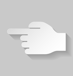 Hand pointing to the left vector image