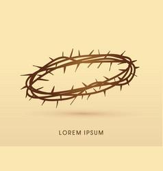 jesus crown of thorns vector image
