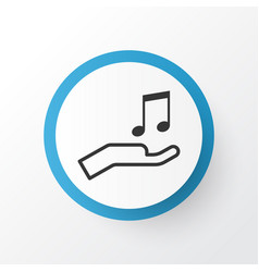 Sell music icon symbol premium quality isolated vector