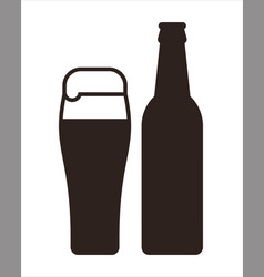 beer mug and bottle vector image vector image