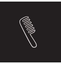 Comb sketch icon vector image vector image
