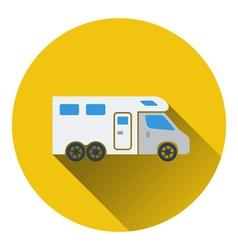Icon of camping family caravan car vector image vector image