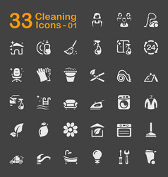 33 cleaning icons 01 vector