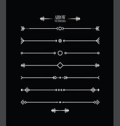 Abstract arrow line set vector