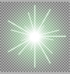 abstract laser beams with sparks green color vector image