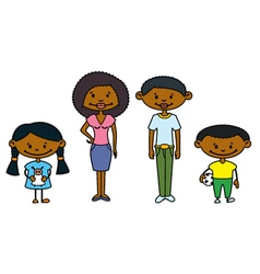 African-American Family vector image vector image