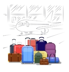 Airport luggage People travel vector image