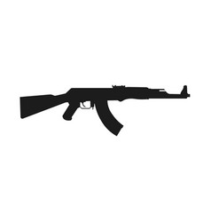 Assault rifle icon isolated on white kalashnikov vector