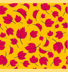 autumn maple leaves autumnal seamless pattern for vector image