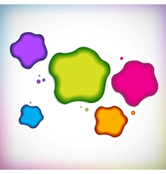 background with blob vector image