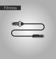 black and white style icon jump rope vector image