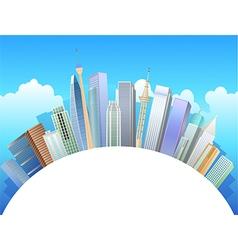 Buildings background vector