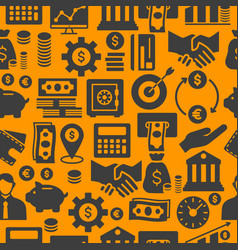 business and finance seamless flat icon pattern vector image