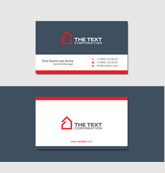 business cards template with hotel red color vector image
