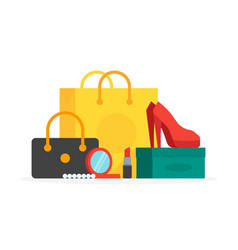 buyings in paper bags vector image