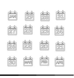 calendar icon design vector image