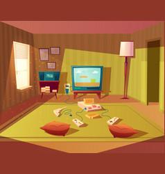 cartoon interior of playroom for children vector image