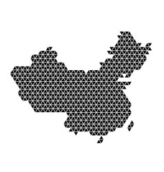 China map abstract schematic from black triangles vector