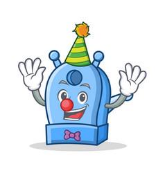 Clown pencil sharpener character cartoon vector