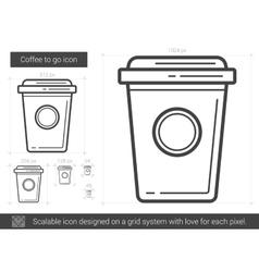 Coffee to go line icon vector image