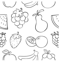Collection stock of fruit pattern style vector