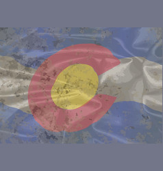 colorado state silk flag vector image