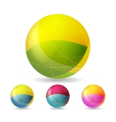 Colorful geometric balls vector image
