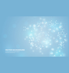 connected molecules background design medical vector image
