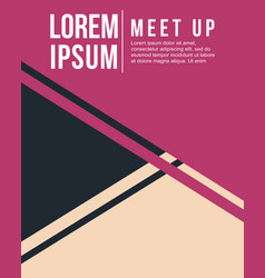 Cool colorful background design meet up card vector