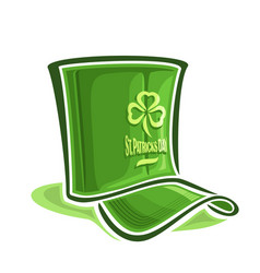 creative hat for st patricks day vector image