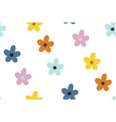 ditsy floral background seamless pattern vector image