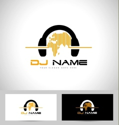 Dj Logo Design vector