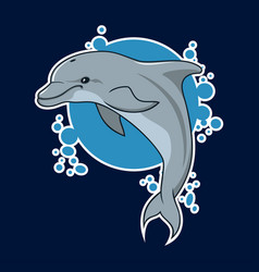 Dolphin sticker vector