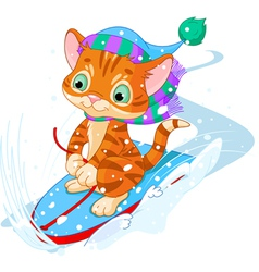 Fast fun Kitten vector image
