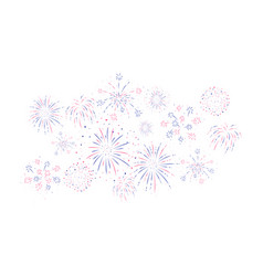 Fireworks festive and event background vector