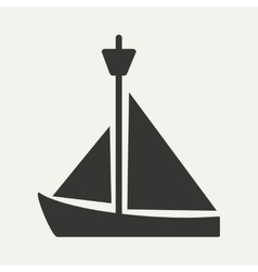Flat in black and white mobile application yacht vector