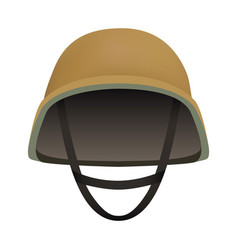 front of desert helmet mockup realistic style vector image