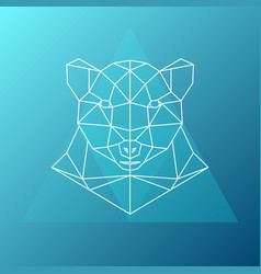 geometric low-poly bear abstract vector image