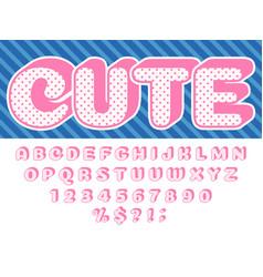 Girls doll font pink princess surprise lol funny vector