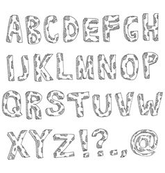 Hand drawn spotted alphabet vector