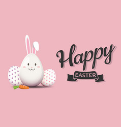 Happy easters day greeting card vector