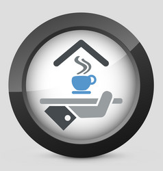 Hotel icon breakfast vector